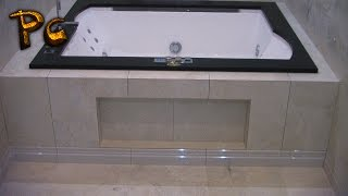 Bathtub Installation. Jacuzzi. Экран под ванну Джакуззи.(How to install Screen Bath. Как сделать раздвижной экран под ванну из керамической плитки своими руками. Please subscribe! Пожа..., 2016-02-21T16:00:03.000Z)