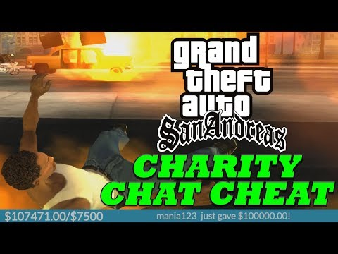 Viewers Control The Cheats During GTA San Andreas Speedrun! - Raising Money For Charity!
