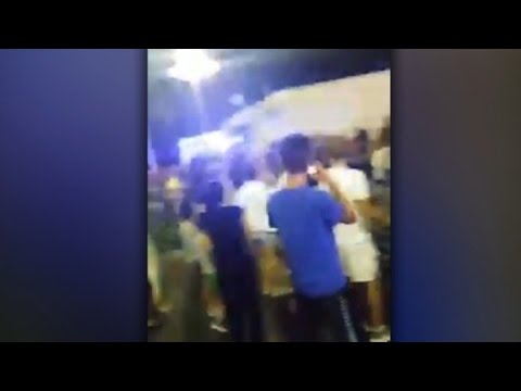 Video shows Nice truck driving through crowd