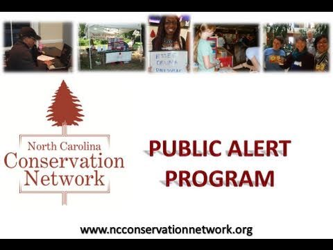NC Conservation Network Public Alert Program
