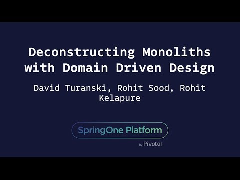 Deconstructing Monoliths with Domain Driven Design - Rohit K