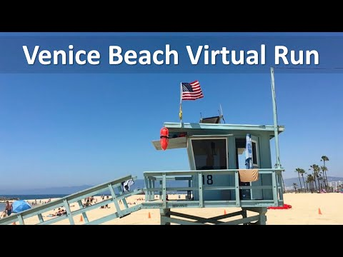 Venice Beach -  Santa Monica Beach. Treadmill Virtual Run