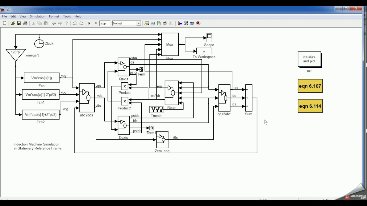advanced MATLAB ( 3 phase induction motor modelling part1 )