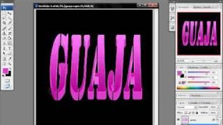 tutorial photoshop texto 3D con punto de fuga por 0o0guajita0o0