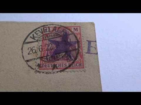 1 1/4 M Deutsches Reich Post Card And Postage Stamp