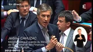 Re-fiscalisation des HS -  Xavier BERTRAND ridiculisé par Jérôme CAHUZAC