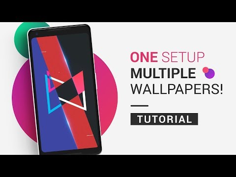 How To Set Multiple Wallpapers AT ONCE On Android | Tutorial