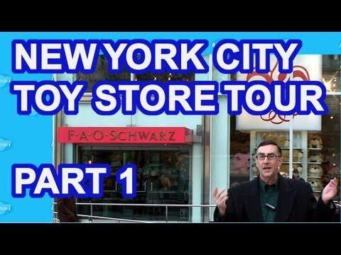 New York City Toy Stores Tour 2011 Part 1 FAO Schwarz and LEGO