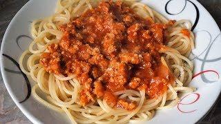 Спагетти а-ля болоньезе простой рецепт/ макароны с томатно-мясным соусом