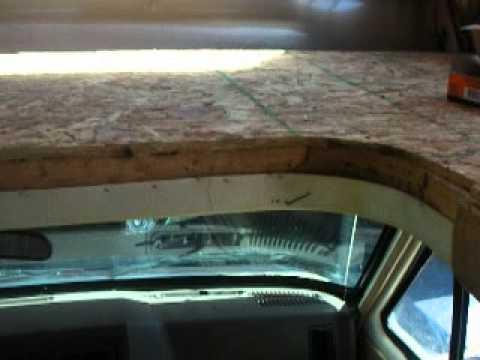 C Class Motorhome Over Cab Bed Loft Rebuild 5 Youtube