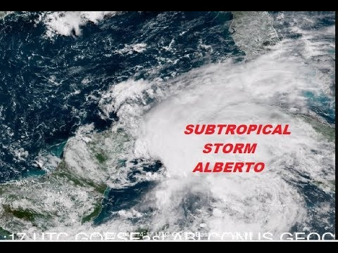 SUBTROPICAL STORM ALBERTO FORMS NW CARIBBEAN HEADING NORTH INTO GULF OF MEXICO