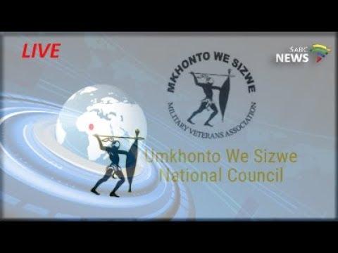 Ramaphosa addressing Umkhonto we Sizwe leaders