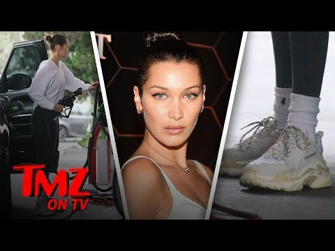 Bella Hadid Rocks Super Old But Expensive Sneakers | TMZ TV