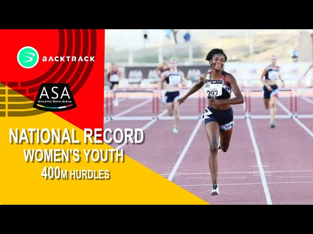 Gontse Morake u/18 400mh final New SA Youth Record