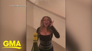 Mariah Carey puts her 'own spin' on viral 'bottle cap' challenge | GMA