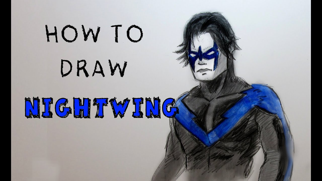 how to draw nightwing step by step
