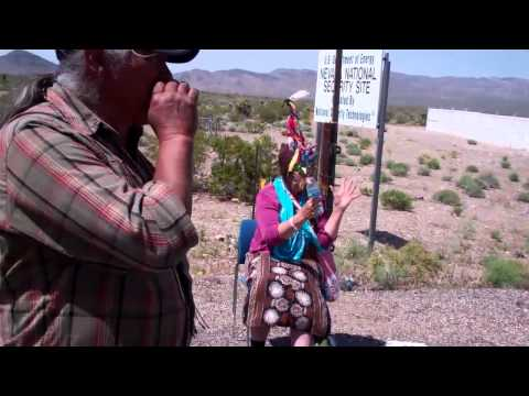 Wailing at the Nevada National Security Site against nuclear weapons and nuclear waste
