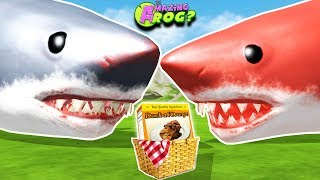 SPECIAL MEGALODON PICNIC!! GREY & RED MEGALODON FINALLY MEET! || Amazing Frog Funny Gameplay Part 58