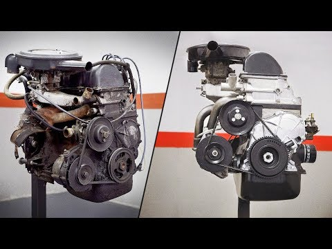 ВАЗ 2106 - Ремонт двигателя [stop motion]
