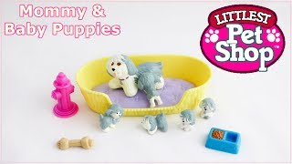 Mommy and Baby Puppies - vintage Littlest Pet Shop Kenner