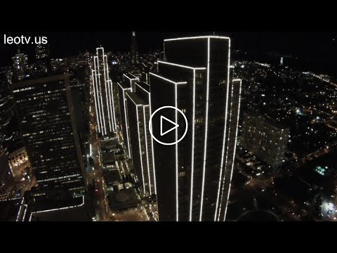 Embarcadero Center San Francisco DJI Phantom 2 GoPro Night Flight