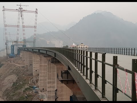 Indian Railways: Construction of Tallest Arch Bridge over Chenab river in Himalaya || News Station