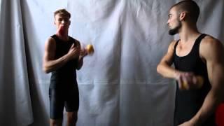 #29. Перекидки 5М (видео уроки по жонглированию от ПГ и МК)