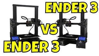 Older ENDER 3 vs New ENDER 3 - 3D Printer Review/Comparison