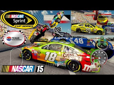 Nascar 15 The Game: Texas Motor Speedway Crash Compilation in 21st Century 2
