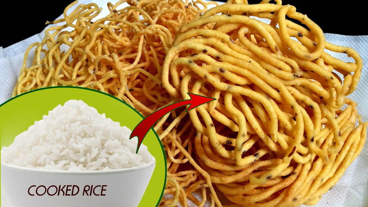 Left over Rice Sev || Sev from Cooked Rice || Simple & tasty recipe from Left over rice