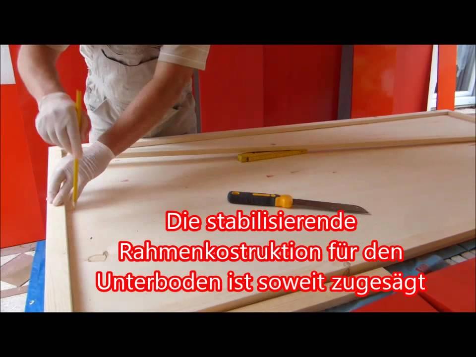 Der Boden - Holz Rahmen verleimen & streichen - YouTube
