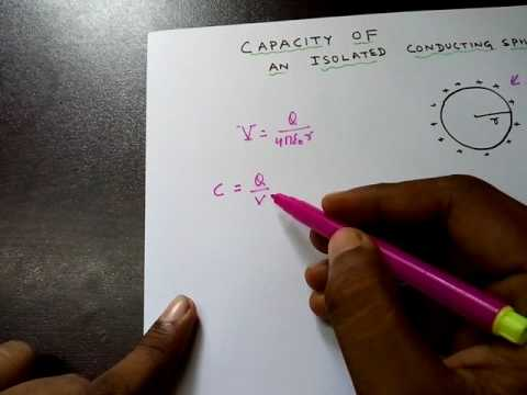 Capacitance: An isolated conducting sphere part 3