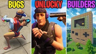 BROKEN SPINE GLITCH! BUGS vs UNLUCKY vs BUILDERS - Fortnite Battle Royale Funny Moments