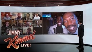Jimmy Kimmel Debuts Wall of America with Kevin Hart & Eddie Murphy