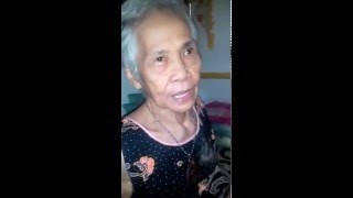 My lovely 87-year old Nanay showing her good memory and clear mind.