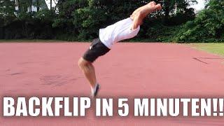 BACKFLIP in 5 Minuten lernen !! | PrankBrosTV