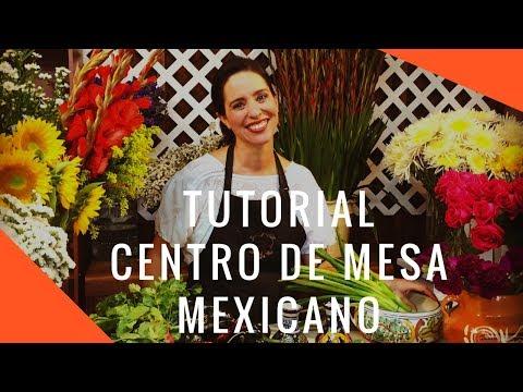 Como hacer un centro de mesa mexicano super fácil