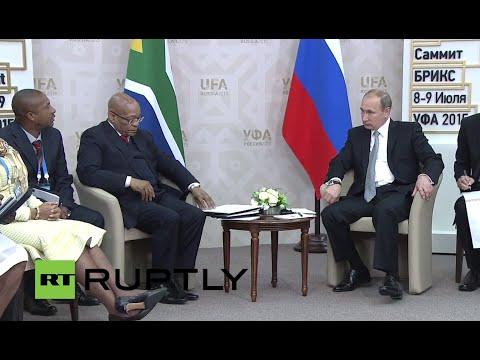 LIVE: Putin meets South African president Jacob Zuma