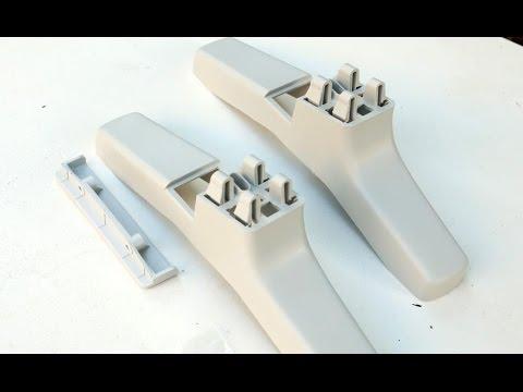 Как штамповать штукатурку полиуретановой формой на стене бетонной .