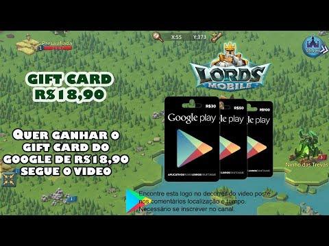 QUER GANHAR O GIFT CARD SEGUE O VIDEO - LORDS MOBILE