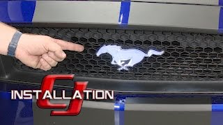 2015-2017 GT/EcoBoost/V6 Mustang Ford Pony Emblem Front Grille Light Up Installation