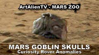 Mars Ancient Alien Goblin Like Skulls: Curiosity Rover Anomalies. ArtAlienTV - 1080p