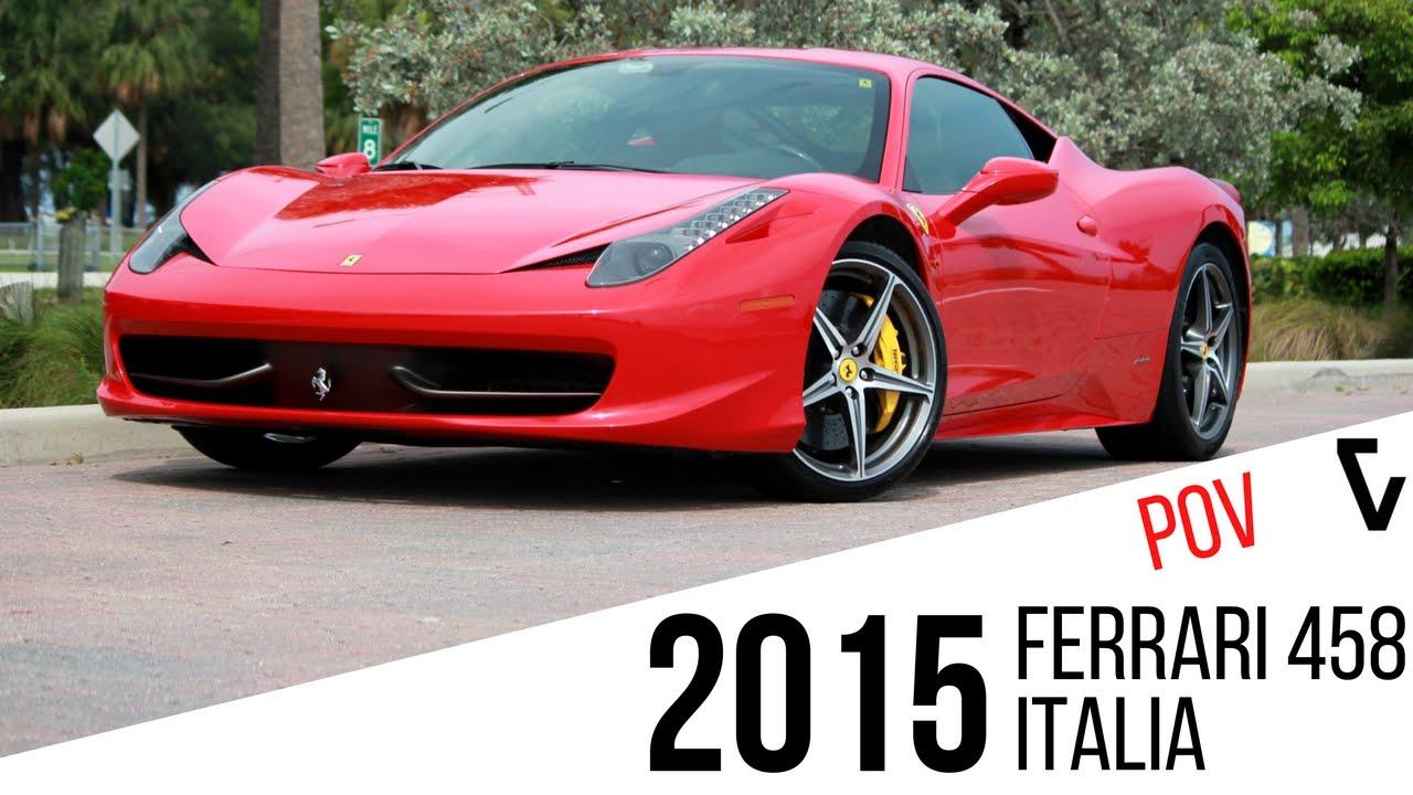 2015 Ferrari 458 Italia POV Test Drive 0-60