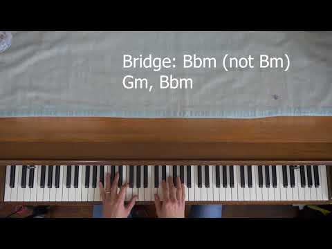 How to play Radiohead's No Surprises on the piano