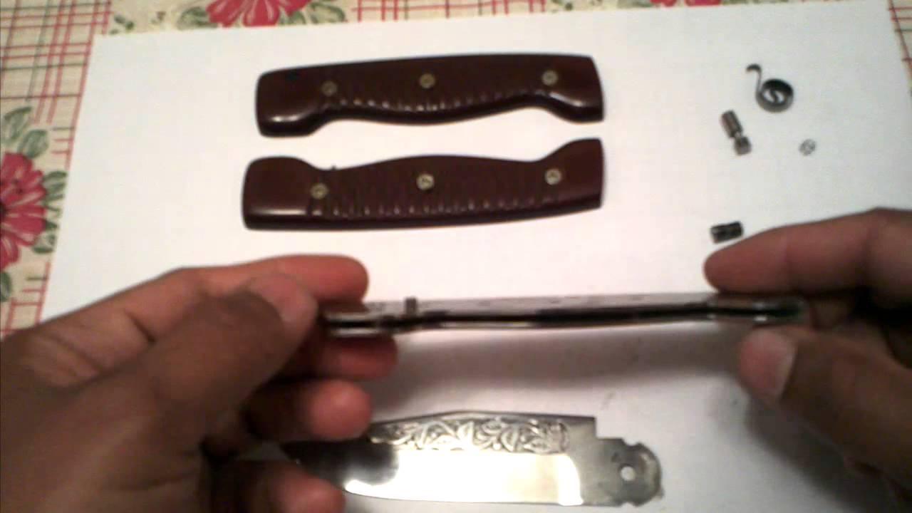 Чертежи запорных устройств складных ножей