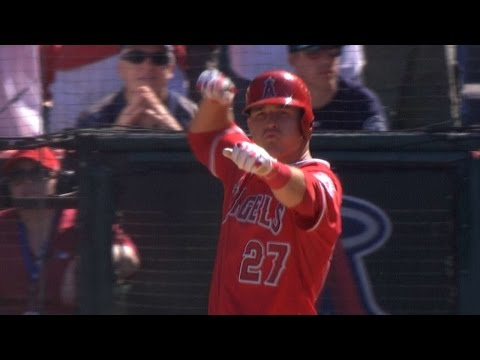 Albert Pujols and Mike Trout get PAYBACK for Fernando Rodneys early bow and arrow celebration