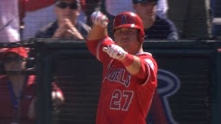 Albert Pujols and Mike Trout get PAYBACK for Fernando Rodney's early bow and arrow celebration