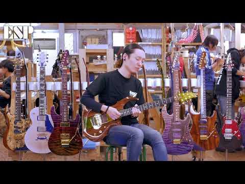 ESP Guitars: 2018 ESP Exhibition Limited EX18-08 FRX-CTM FR [4K]