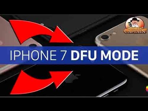 How to enter DFU Mode or Safe Mode iPhone 7 Downgrading or Restoring Purposes