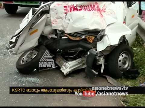 Ambulance hits KSRTC bus at Kollam; 4 dies